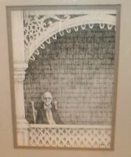 """""""Porch Sitter"""" Ink Drawing-1960s- William Gorman- N.J. Listed"""