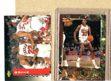 Michael Jordan/Scottie Pippen-2 Card Lot-1992-93 Ultra Highlights+'94 UDeck Team
