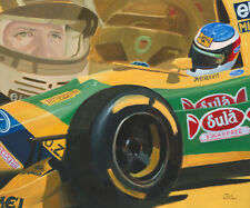 Art Card 1993 Benetton Ford B193 #5 Michael Schumacher by Toon Nagtegaal (OE)