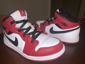 Toddler Nike Air Jordan 1 Mid Basketball Shoes 'Chicago' - Size 10C