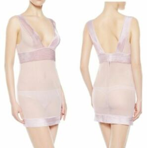 La Perla Tulle Nervures Collection S Chemise Thong Set Lilac