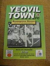 19/12/1992 Yeovil Town v Bromsgrove Rovers  . Item appears to be in good conditi