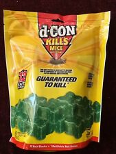 D-CON RAT & MOUSE KILLER POISON BOX OF 12 REFILLS AND 1 NEW BAIT STATION
