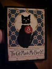 1984 Book THE CAT MADE ME BUY IT!; Vintage Product  ADVERTISING