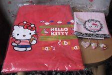 Hello Kitty items Japan Face cloth,3 phone charms & shopping/beach bag NEW