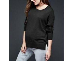 GAP Maternity Black Brooklyn Pullover Long Sleeve Sweater Top Small NWT Nice