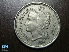 1868 3 Cent Nickel Piece    BETTER GRADE!  NICE TYPE COIN!  #B6693