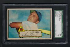 1952 Topps 1st Series #40 Irv Noren (Red Back) (SGC 84) NM / Sharp Card! (PSA 7)