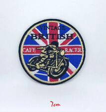 Vintage British Cafe Racer Iron on/Sew on Embroidered Patch #521