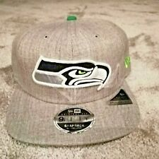 New Era Cap, Seattle Seahawks, Snapback, grey, new with tags, free UK delivery