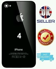 NEW Replacement Back BLACK Glass Cover/Rear Battery Cover FOR APPLE iPhone 4