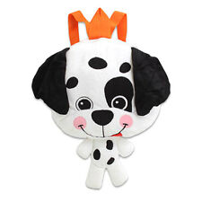 BIG HEAD DALMATIAN DOG Plush Backpack Kids Toddler Travel buddy Bag Doll Toy NEW