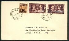 MOROCCO AGENCIES 1937 Coronation FDC - Br & French currency................89285