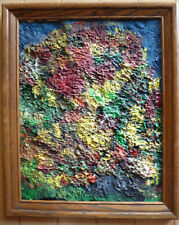 MYSTERY ABSTRACT ABSTRACTION VINTAGE, EXPRESSIONIST CHUNKY CLUMPY OIL MODERNISM
