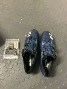 Gaerne Carbon Chrono+ SPD-SL Road Shoes 2020 EU43 / UK9.5 +yellow/blue cleats