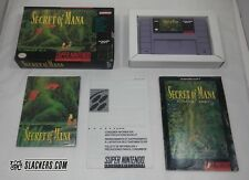 SECRET OF MANA (Super Nintendo Entertainment) COMPLETE IN BOX!! SNES Tested!