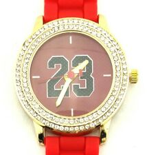 Chicago New Legend 23 Jordan Woman Ladies Bulls Red Gold Silicone Era Watch