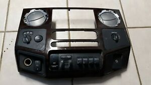08 Ford F-250 Super Duty woodgrain dash trim radio bezel brake controller