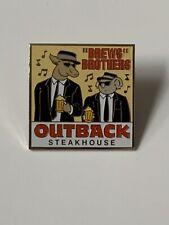 Outback Steakhouse Pin BREWS(BLUES) BROTHERS  Kangaroo & Koala Beer Cheers Music