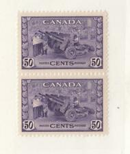 CANADA (MK3273) # 261 VF-MNH  50cts MUNITIONS FACTORY PAIR/ 1942 CAT VALUE $150