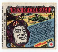 Anglo Wax Wrapper Men Of Courage #14 WW2 RAF Ace Pilot J.E. Johnny Johnson