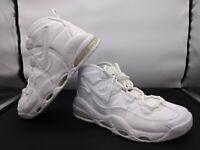 Nike Air Max Uptempo '95 Mens Triple White Basketball Shoes 922935-100 Sz 9.5