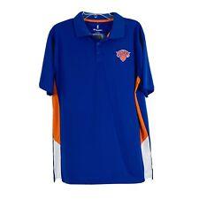 Fanatics New York Knicks NBA Blue Polo Shirt Mens Large Short Sleeve NWT