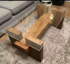 Bespoke Designer Wooden Coffee Table Modern contemporary  WOOD or GLASS TOP