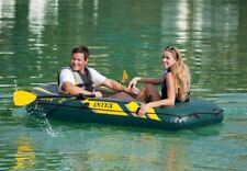 New Inflatable INTEX  Seahawk 2 Boat Set Two Person Oars Pump Fishing Raft PVC