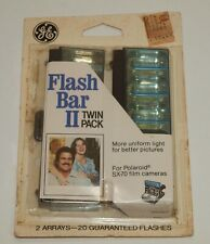 Vintage GE General Electric FLASH BAR Twin Pack 20 Flashes For POLAROID SX-70