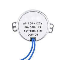 50TYC Synchronous Synchron Geared Motor 50/60Hz AC 110V 4W 1/3/12/15RPM CCW/CW