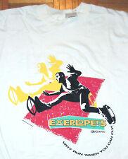 NordicTrack T Shirt Exerlopers Shoes Exercise Train Single Stitch Vintage 90s Xl