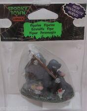 Lemax Spooky Town Accessory Figurine Death Coffee Break # 32113 Coffee Doughnuts