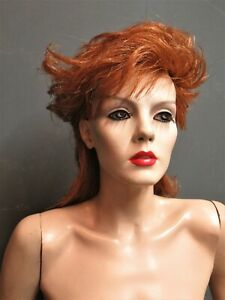Vintage Adel Rootstein Mannequin 'Tracy Leigh' TL5 With Glass Stand & Wig