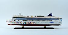 "Norwegian Star Cruise Ship 40"" Handmade Wooden Ship Model"
