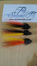 "3x German Snaelda 1"" Conehead Tube Salmon Fishing Flies"