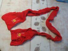 Écharpe en laine rouge avec poche à chaque extrémités – 3 nœuds sur la longueur