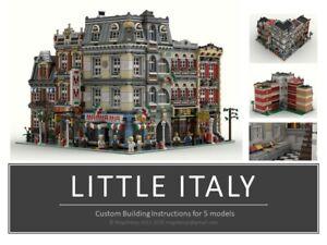 LITTLE ITALY INSTRUCTIONS MANUALS LEGO CUSTOM MODULARS PDF MOC train city