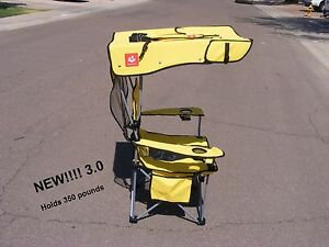 NEW STYLE, Renetto 3.0 YELLOW, HEAVY DUTY,  Original Canopy Chair, mesh insert