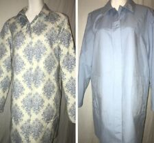 12cd1b805718f Gallery Women s Reversible Trench Coat Raincoat Size Large Periwinkle Damask