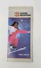 1981-82 Copper Mountain Ski Area Vintage Brochure - Summit County - Colorado