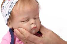 "21"" Lifelike SOFT SOLID silicone Reborn Girl Baby Realistic Newborn Baby Doll"