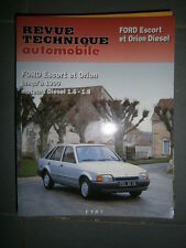 Ford ESCORT - ORION Diesel 1.6 1.8 jusque 1990 : revue technique RTA 4673
