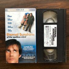 Eternal Sunshine of the Spotless Mind (Vhs, 2004) Rare Jim Carrey Vhs