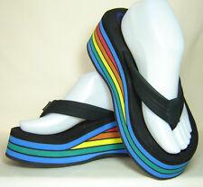 NEW Rainbow Classic 6-layer Platform Flip Flop Thong Sandals -Women's Size 9.5 M