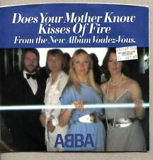 VINYL 45 & Picture Sleeve ABBA - Does Your Mother Know / Kisses Of Fire