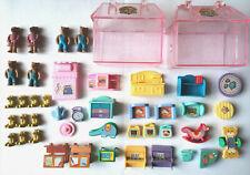Vintage 90s Miniature Play Set House Bears Teddy's Wonderland Teddy's World Home