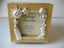 GODINGER SILVERPLATED BABY CUBE PHOTO HOLDER FRAME AND MUSIC BOX,NEW