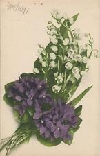 Postcard Violets Lilies of Valley Dr Trenkler Series Natura i4 ca1910 Germany