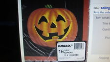 192 COUNT HALLOWEEN PUMPKIN NAPKINS 13 X 13 INCHES FAST SHIPPING!!!